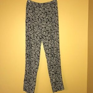 H&M black and white patterned pants